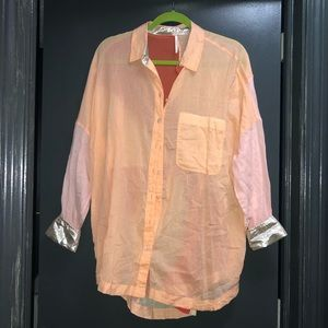 Free people button up shirt NWT